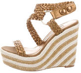 Brian Atwood Woven Platform Wedges