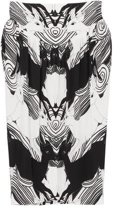 Burberry Abstract Deer Print Skirt