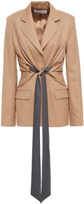 Gabriela Hearst Grant Tie-front Wool-blend Blazer