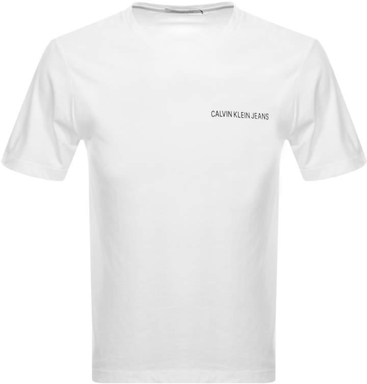 Calvin Klein Institutional T Shirt White
