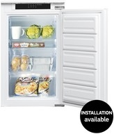 Indesit INF901EAA 55cm Integrated Under Counter Freezer With Optional Installation - White
