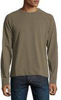 James Perse Slub Jersey Raglan Crewneck T-Shirt, Taupe