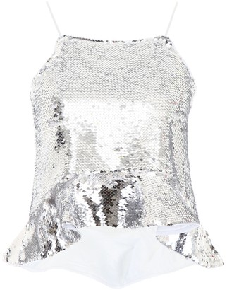 Ganni Sequins Cropped Cami