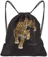 Dolce & Gabbana Jaguar Printed Drawstring Backpack