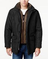 Weatherproof Men's Faux-Fur-Collar Layered Parka