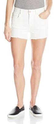 Armani Exchange A|X Women's Stretch Twill 5 Pocket Denim Shorts with Rose Gold Detail