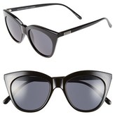 Le Specs Women's Halfmoon Magic 51Mm Cat Eye Sunglasses - Black