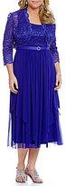 R & M Richards Plus Lace Bolero Jacket Dress