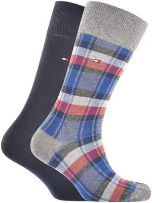 Tommy Hilfiger 2 Pack Stripe Socks Grey
