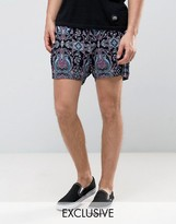 Reclaimed Vintage Inspired Shorts In Paisley Print