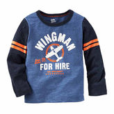 Osh Kosh Oshkosh Boys Long Sleeve Wing Man T-Shirt-Toddler