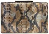 Sondra Roberts Gold-Plated Box Clutch