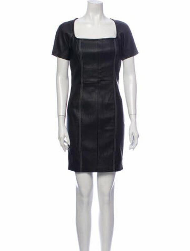 Thumbnail for your product : Alexander Wang Lamb Leather Mini Dress Black