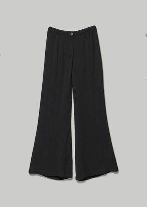 Raquel Allegra Women's Flared Trouser Pants in Black Size 1