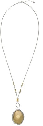 The Sak Two-Tone Oval Pendant Long Necklace