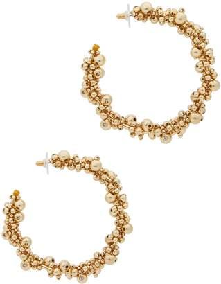 BaubleBar Pitti Gold-tone Beaded Hoop Earrings