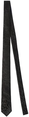 Saint Laurent 4cm Leo Jacquard Silk Tie