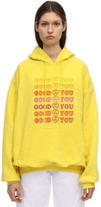 Good For You Embroidered Cotton Hoodie
