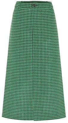 Balenciaga Coat wool-blend midi skirt