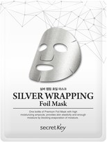 Secret Key Silver Wrapping Foil Mask - 5 Pack
