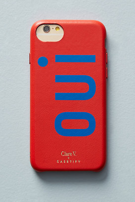 Casetify Clare V. x Oui Leather iPhone Case By in Red Size S