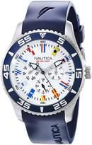 Nautica Men's N12627G NST 07 Flags Stainless Steel Watch