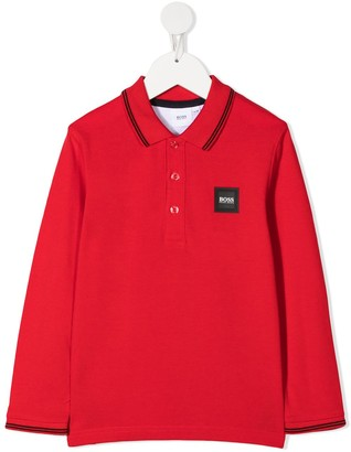 Boss Kidswear Logo Patch Polo Shirt