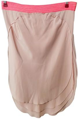Fendi Pink Silk Skirt for Women