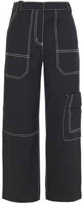 3.1 Phillip Lim Cropped Cotton And Wool-blend Twill Straight-leg Pants