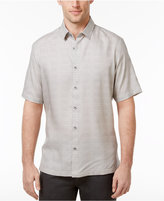 Alfani Men's Horizontal Striped Grid-Pattern Shirt, Only at Macy's