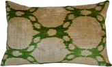 Orientalist Home Maggie 16x24 Silk Pillow, Green
