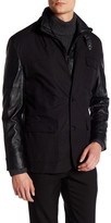 Vince Camuto Faux Leather Paneled Jacket
