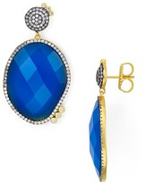 Freida Rothman Faceted Blue Agate Drop Earrings
