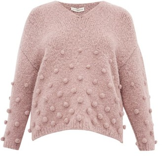 Vika Gazinskaya Oversized Bobble-stitch Sweater - Light Pink