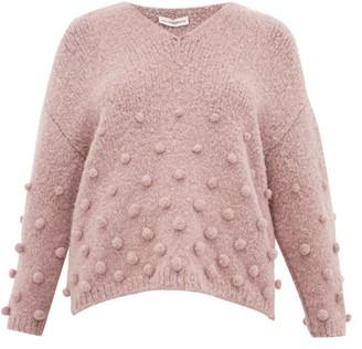 Vika Gazinskaya Oversized Bobble-stitch Sweater - Light Pink