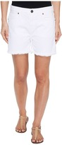 Parker Smith - High-Rise Fray Shorts in Blanc Women's Shorts