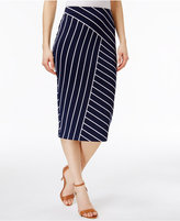 Alfani Below-Knee Printed Pencil Skirt, Created for Macy's