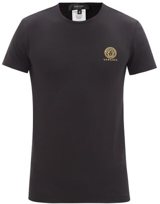 Versace Pack Of Two Medusa-print Jersey T-shirts - Black