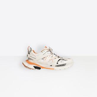 Balenciaga Track trainers in white and orange mesh and nylon
