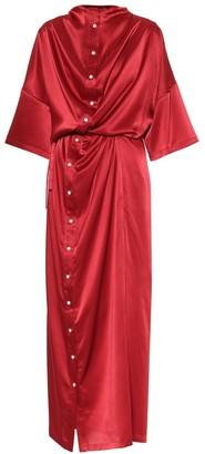 Y/Project Satin midi dress