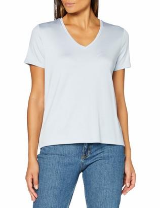 Scotch & Soda Women's Regular Fit V-Neck Tee in Tencel Quality T-Shirt