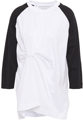 Marques Almeida Gathered Cotton-jersey Top
