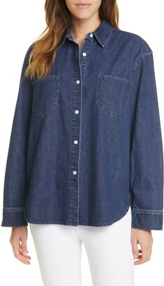 Jenni Kayne O'Keeffe Denim Button-Up Shirt