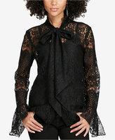 Denim & Supply Ralph Lauren Lace Necktie Blouse