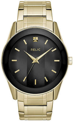 Fossil Relic By Mens Gold Tone Stainless Steel Bracelet Watch-Zr77273