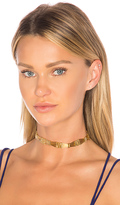 Amber Sceats Vogue Choker in Metallic Gold.