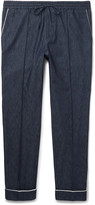 Valentino - Slim-fit Drawstring Denim Trousers