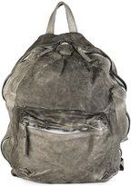 Giorgio Brato front zip backpack - men - Cotton/Lamb Skin - One Size