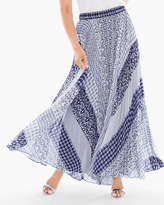 Chico's Pleated Geo Maxi Skirt