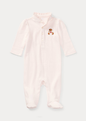 Ralph Lauren Embroidered Polo Bear Coverall